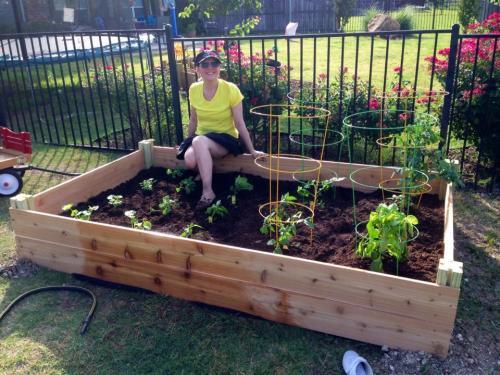 All done! Grow, garden, grow!