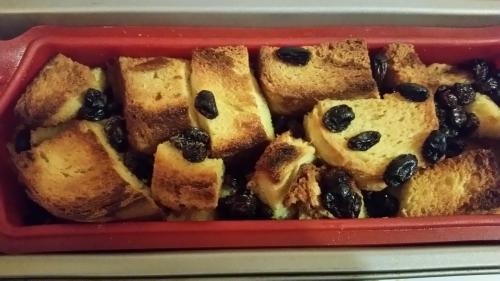 Bread Pudding made before Jonas