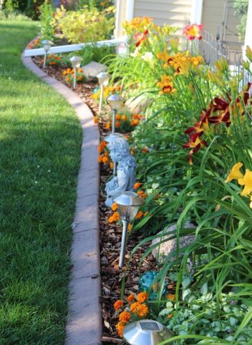 Lakeside flower bed...